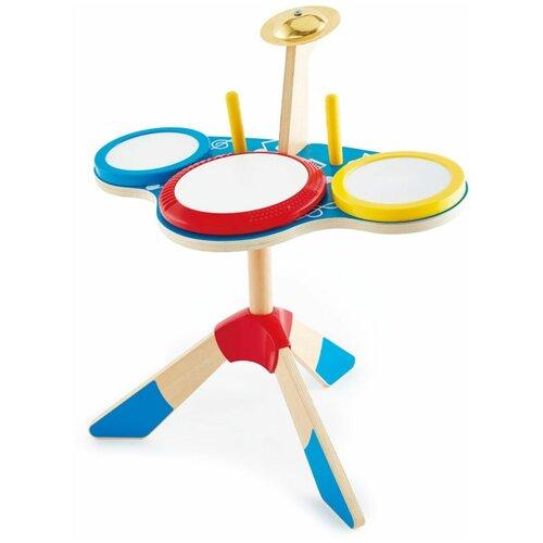 Купить Hape барабан E0613 бежевый/голубой, Детские музыкальные инструменты