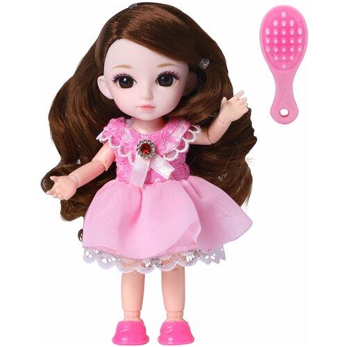 Кукла Малышка Лили брюнетка с расческой, 16 см, Funky Toys FT72004