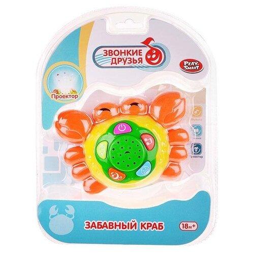 Интерактивная развивающая игрушка Play Smart Забавный краб (7690), желтый/зеленый/оранжевый