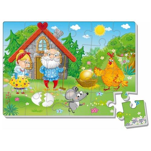 Пазл Vladi Toys Курочка Ряба (VT1102-20), 24 дет. пазлы vladi toys игра настольная макси пазлы путешествие по сказке курочка ряба