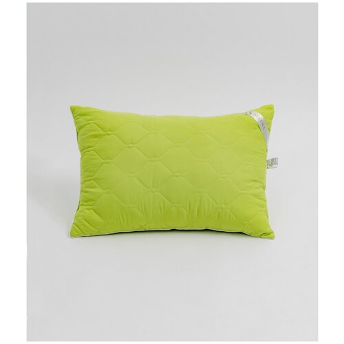 Подушка crinkle line иск.лебяжий пух, микрофибра, пэ 100%, 50x70, зеленый