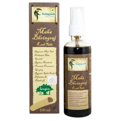 Купить Масло для волос «Маха Брингарадж», 100 мл, Sangam Herbals