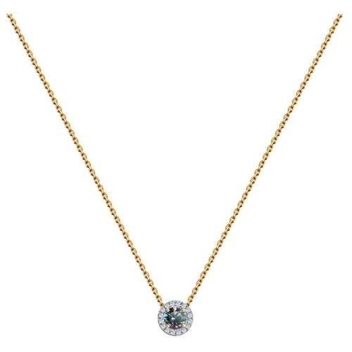SOKOLOV Колье из золота с бриллиантами и александритом 6074012, 45 см, 2.76 г