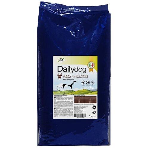 Сухой корм для собак DailyDog оленина, с кукурузой 12 кг (для мелких пород)