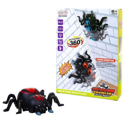 Купить Интерактивные насекомые и пресмыкающиеся. Паук, ползает по стенам, р/у, световые эффекты, Junfa toys, Роботы и трансформеры