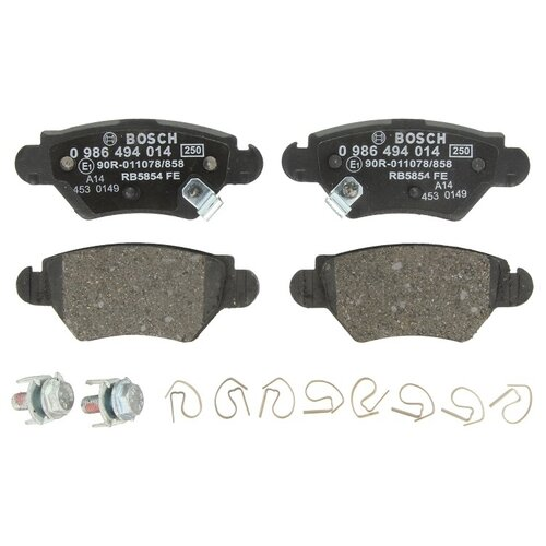 Дисковые тормозные колодки задние Bosch 0986494014 для Opel Astra, Opel Zafira (4 шт.) дисковые тормозные колодки задние bosch 0986424646 для opel astra opel zafira 4 шт