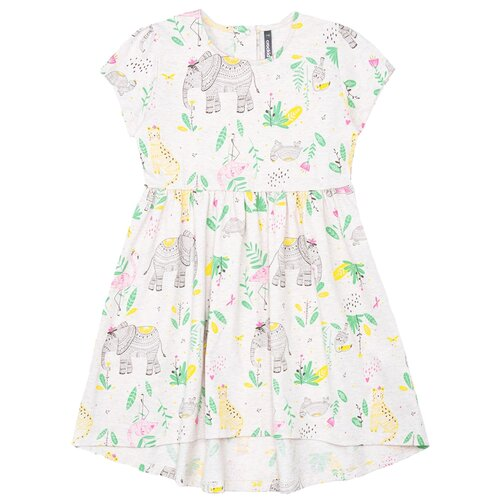 Фото - Платье crockid размер 98, светло-бежевый меланж/слоники к289 халат crockid размер 98 серый меланж