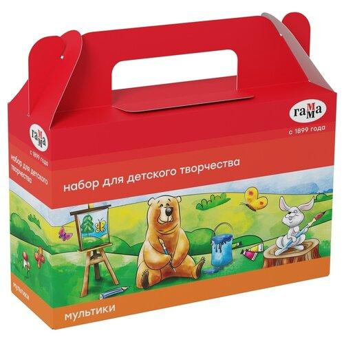 Купить Набор для детского творчества Гамма Мультики , 9 предметов, в подарочной коробке (270420205), ГАММА, Канцелярские наборы
