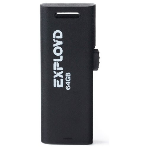 Фото - Флешка EXPLOYD 580 64 GB, black флешка exployd 570 64 gb black