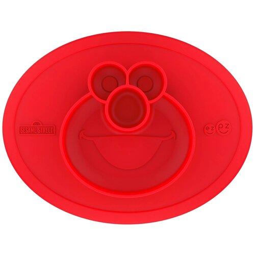 Купить Тарелка EZPZ Cookie Monster Mat Limited Edition (PKSSR001), красный, Посуда