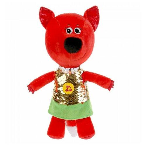 Фото - Мягкая игрушка Мульти-Пульти Ми-ми-мишки Лисичка в платье из пайеток 20 см, с чипом мягкая игрушка мульти пульти ми ми мишки лисичка в ободочке 20 см