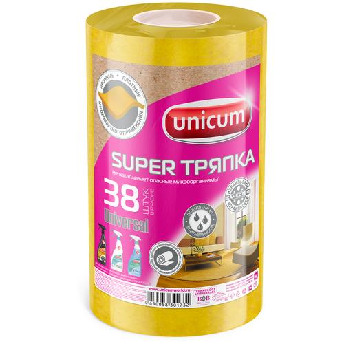 Тряпка в рулоне Unicum Super тряпка Universal 38 шт, желтый