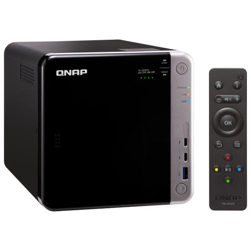 Сетевой накопитель (NAS) QNAP TS-453BT3 черный