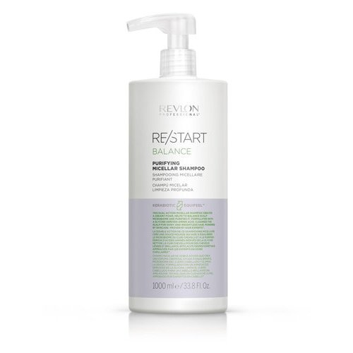 Купить Revlon Professional RESTART BALANCE PURIFYING MICELLAR SHAMPOO Мицеллярный шампунь для жирной кожи, 1000 мл