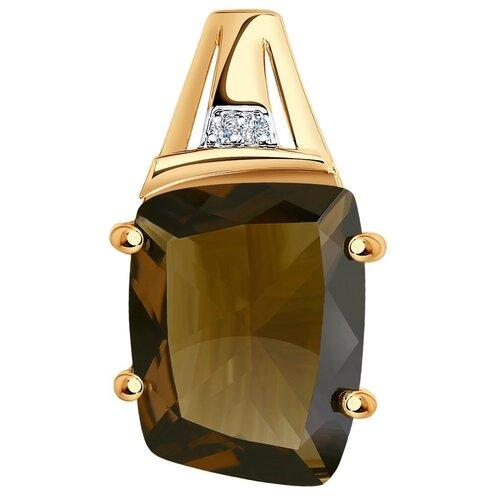 SOKOLOV Подвеска из золота с раухтопазом и фианитами 732265