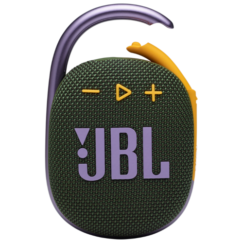 Портативная акустика JBL Clip 4, 5 Вт, зеленый