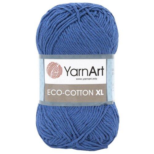 Купить Пряжа YarnArt 'Eco Сotton XL' 200гр 220м (85% хлопок, 15% полиэстер) (774 синий), 5 мотков