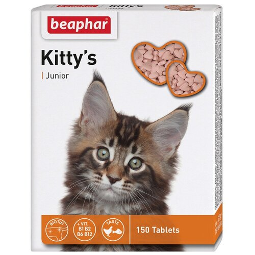 Фото - Добавка в корм Beaphar Kitty's Junior + Biotine 150 таб. добавка в корм beaphar salvikal