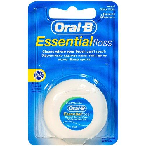 Фото - Oral-B зубная нить Essential вощеная зубная нить oral b essential мятная 50m 3014260280772