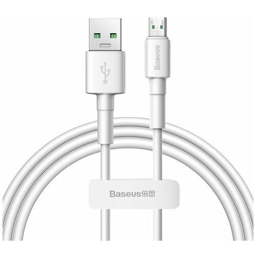 Кабель Baseus Mini White Cable USB - microUSB (CAMSW-D02) 1 м, white аксессуар baseus mini white usb microusb 4a 1m white camsw d02