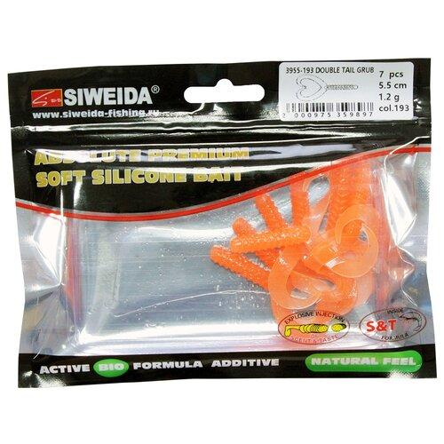 Набор приманок резина SIWEIDA Double Tail Grub твистер цв. 193 7 шт.