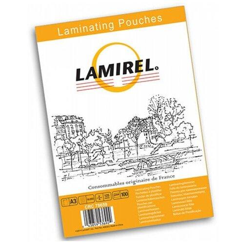Фото - Пакетная пленка для ламинирования Lamirel А3 LA-78659 125 мкм 100 шт. глянцевая рулонная пленка lamirel 305мм 100м 125мкм 1 25мм la 78791