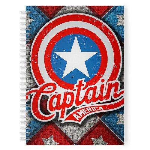 Купить Тетрадь 48 листов в клетку с рисунком Капитан Америка, Drabs, Тетради