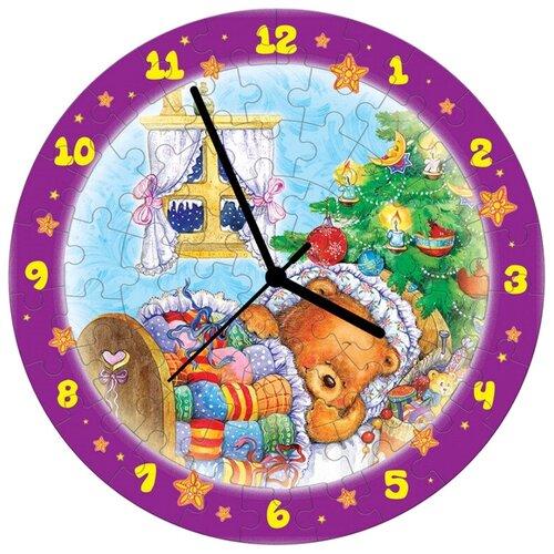 Купить Часы-пазл Умная Бумага Часы Новогодние сны (126-07), 61 дет., Пазлы