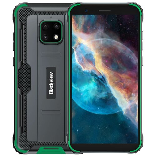 Смартфон Blackview BV4900 Pro, черный/зеленый смартфон blackview bv4900 черный оранжевый