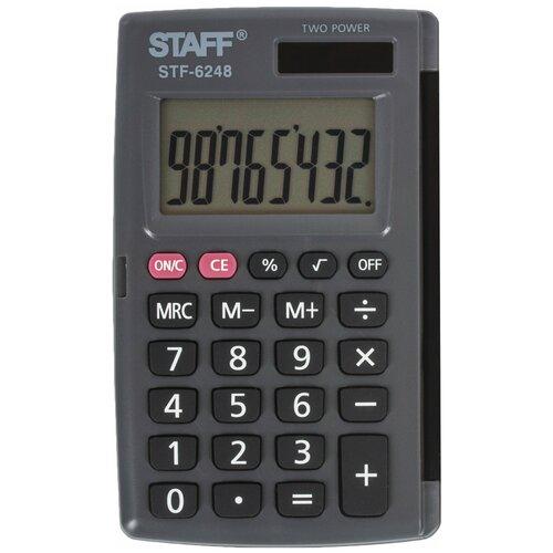 Калькулятор карманный STAFF STF-6248 черный