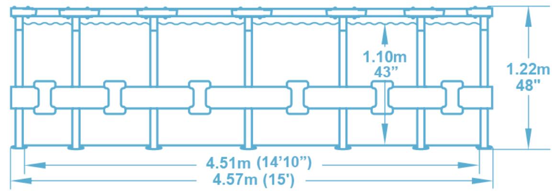 Бассейн Bestway Steel Pro MAX 56438