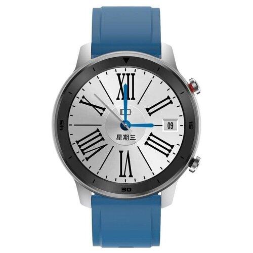 Смарт-часы GARSline DT78 с изменением давления черно-серебристые с синим ремешком