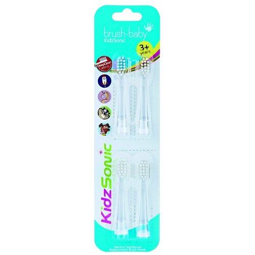 Насадки Brush-Baby KidzSonic 3-6 лет brush baby kidzsonic звуковая зубная щетка ракета от 3 лет