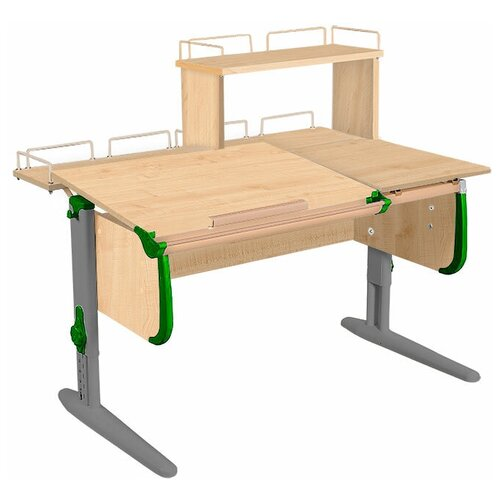 Фото - Стол детский ДЭМИ White-Double СУТ 25-01Д 120x82 см клен/зеленый/серый стол дэми white double сут 25 01д 120x82 см клен зеленый бежевый