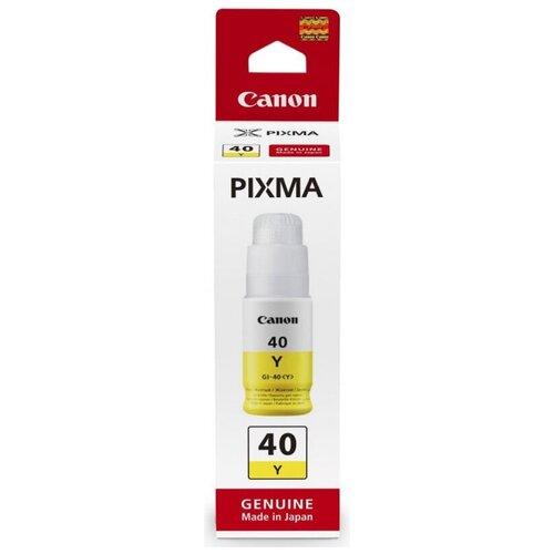 Фото - Картридж струйный CANON GI-40Y желтый (70мл) для Pixma G5040/G6040 картридж струйный canon gi 40 y 3402c001 желтый 70мл для canon pixma g5040 g6040