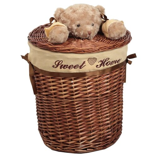Фото - Доляна Корзина для белья Медвежонок, 36х 36 х 40 см коричневый мочалка доляна медвежонок 4442512 коричневый красный