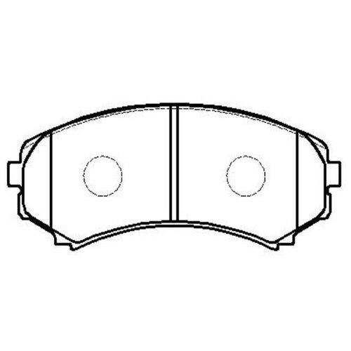 Фото - Дисковые тормозные колодки передние HONG SUNG BRAKE HP5134 для Mitsubishi Pajero, Mitsubishi Montero (4 шт.) дисковые тормозные колодки передние trw gdb3435 для mitsubishi pajero sport mitsubishi montero mitsubishi l200 4 шт