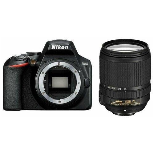 Фото - Фотоаппарат Nikon D3500 Kit черный AF-S DX NIKKOR 18-140mm f/3.5-5.6G ED VR фотоаппарат nikon z5 kit 24 50 f 4 6 3 c адаптером ftz