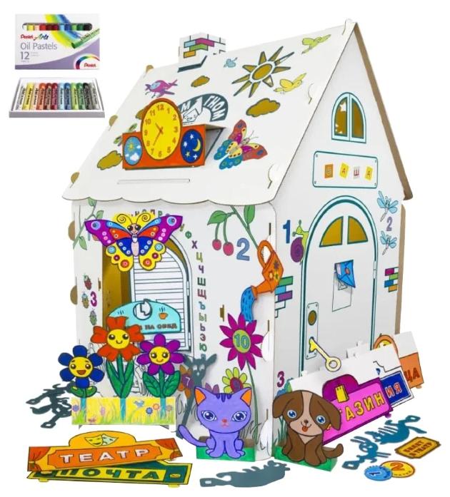 Домик Дом Гном Плюс с набором пастели ДГП-МП12