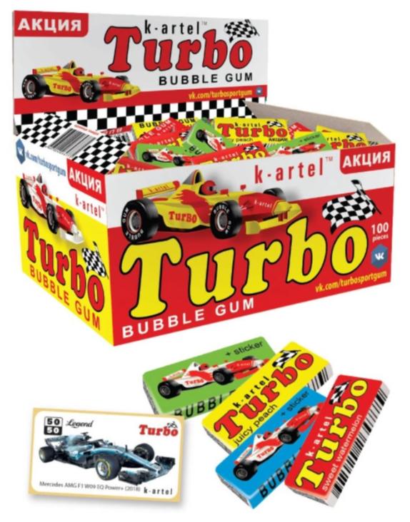 """Жевательная резинка Вкусная помощь """"Turbo"""", 100 шт — купить по выгодной цене на Яндекс.Маркете"""