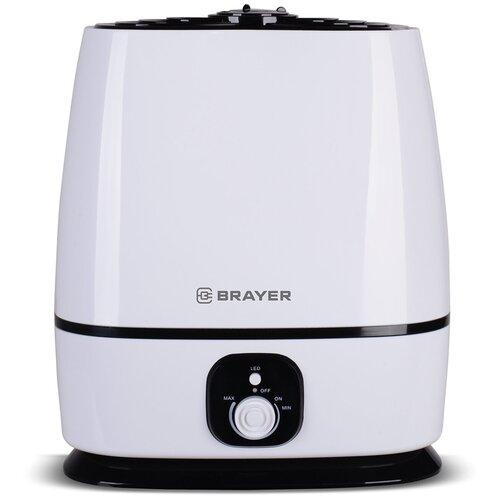 Увлажнитель воздуха BRAYER BR4702, белый/черный увлажнитель воздуха brayer br4701 белый коричневый