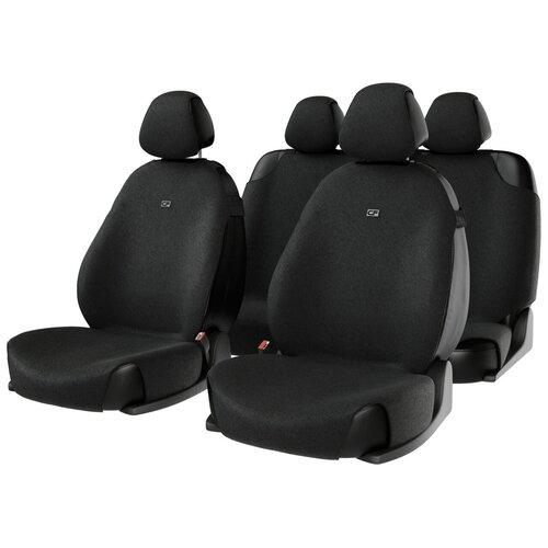 Комплект накидок на автомобильные сиденья CarFashion FORUM черный
