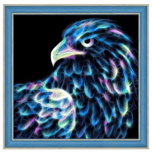 Алмазная живопись Набор алмазной вышивки Неоновый орёл (АЖ-1712) 25х25 см алмазная живопись набор алмазной вышивки персидская принцесса аж 1620 25х25 см