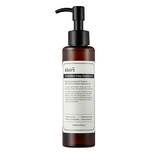 Klairs гидрофильное масло для снятия макияжа и умывания Gentle Black Deep Cleansing Oil, 150 мл недорого