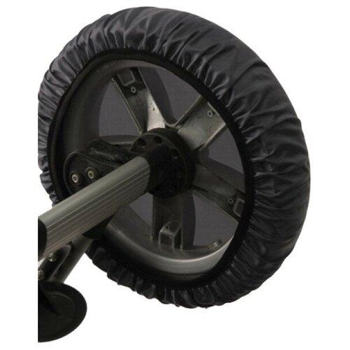 чудо чадо чехлы на колеса для коляски диаметр 18 28 см цвет васильковый 2 шт Чудо-Чадо Чехлы на колеса коляски CHK03 4 шт мокрый асфальт