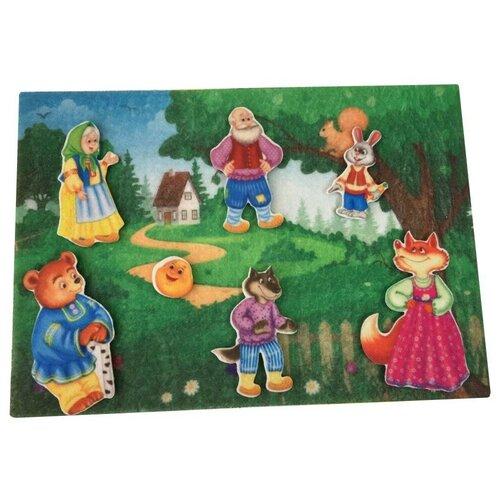 Купить Развивающая игра из фетра на липучках по сказке Колобок , Веселые липучки, Развивающие коврики