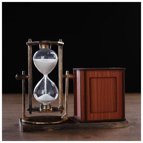 Фото - Часы песочные Селин с карандашницей и фоторамкой, 15.5х6.4х12 см 4727119 песочные часы на 60 минут 26 см прозрачный
