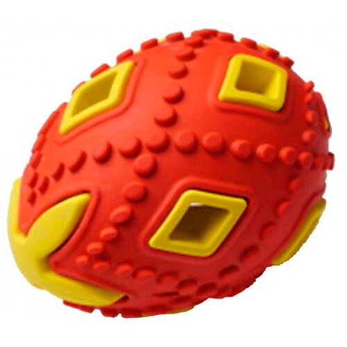 Игрушка для собак Homepet Silver Series яйцо каучук красно-желтое 6,2 х 6,2 х 8 см (1 шт)