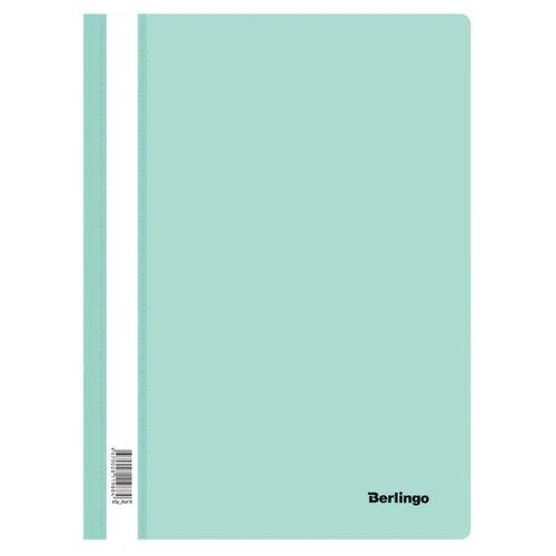 Berlingo Папка-скоросшиватель с прозрачным верхом А4, пластик 180 мкм 20 шт. мятный