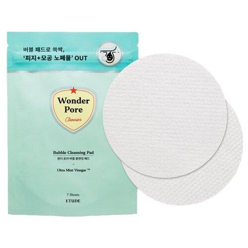 ETUDE HOUSE Ватные диски для лица очищающие с пропиткой Wonder Pore Cleansing Pad 7 шт gigi диски dc deep cleansing liquied pad очищающие ватные 100 мл